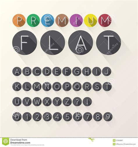 light flat font  numbers  circle royalty  stock