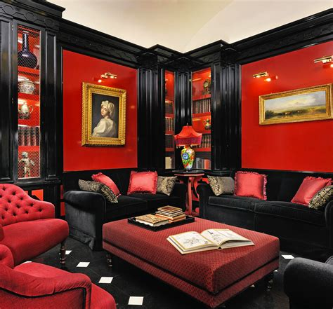 Wohnzimmer Schwarz Rot by Lounge In Style Rome The Awesome Furnished