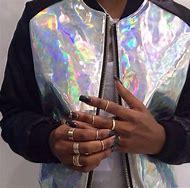 Holographic Bomber Jacket