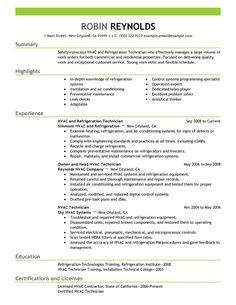 sle resume air conditioning mechanic 1000 images about hvac technician resumes on resume exles resume and free sles