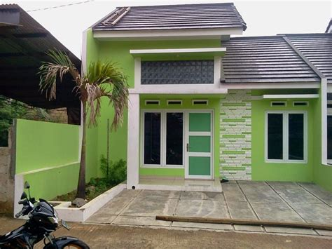 gambar rumah warna hijau lumut