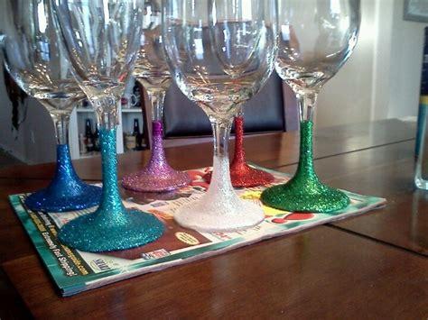 Glitter Wine Glasses On Pinterest