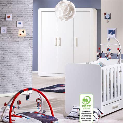 chambre bébé duo astride blanc lit et armoire 3 portes 30
