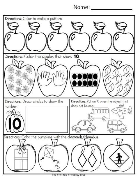 october morning work for kindergarten morning work math