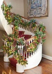 167 best Christmas Staircase Decor images on Pinterest
