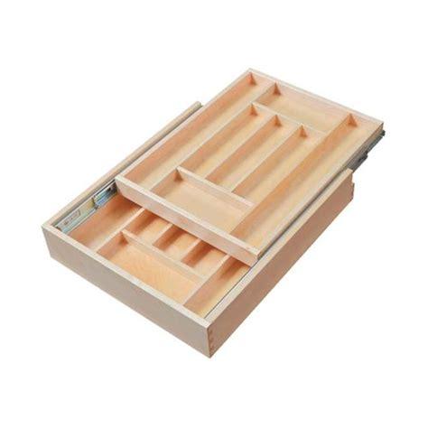 two tier kitchen drawer organizer century components tier silverware drawer 17 1 2 8609