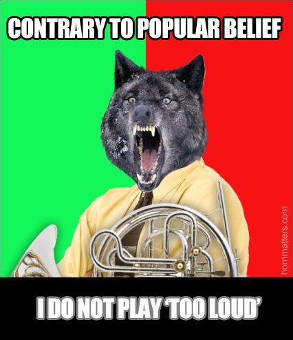French Horn Memes - saturday funnies meme flood french horns and cute animals dressed as humans horn matters a