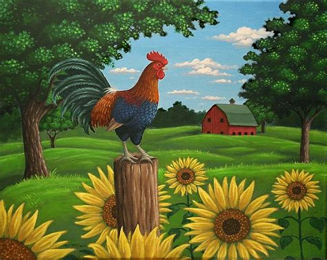 Farm Animal Wallpaper For Kitchen - hen house wallpaper border country chicken farm rooster