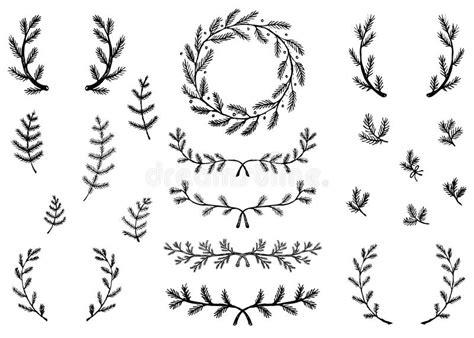 Winter Laurels Stock Vector. Illustration Of Pine, Wreath