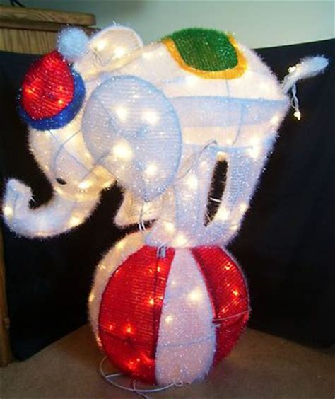home accents   lighted tinsel elephant  ball
