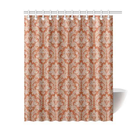 autumn fall colors beige damask shower curtain 60 quot x72
