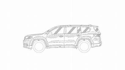 Jeep Suv Patent Drawings Grand Sketch Drawing