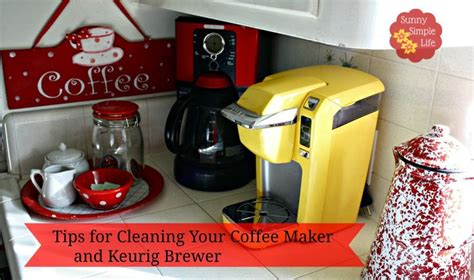 Monthly coffee maker cleaning with vinegar. Sunny Simple Life, how to clean coffee maker, how to clean Keurig, #cleaning with vinegar ...