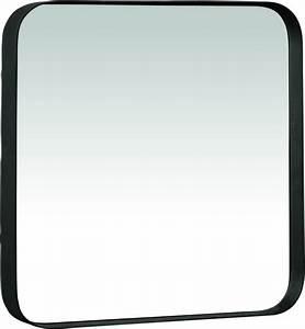Spiegel 40 X 50 : pomax kelly spiegel vierkant metaal 40x40x5 cm zwart ~ Bigdaddyawards.com Haus und Dekorationen