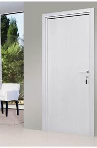 Porte interieur blanc urbantrottcom for Porte de garage coulissante et porte interieur blanc laqué