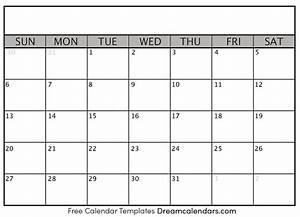 Printable Blank Calendar 2020