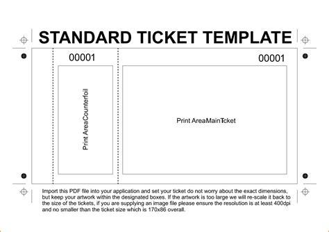 ticket template monster template concert ticket template concert ticket template