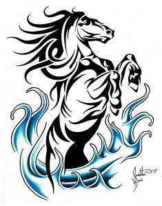 Tribal Rearing Horse by JSHarts on DeviantArt