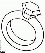 Ring Coloring Diamond Pages Kardashian Kim Clipart Bridal Shower Cool Kanye sketch template