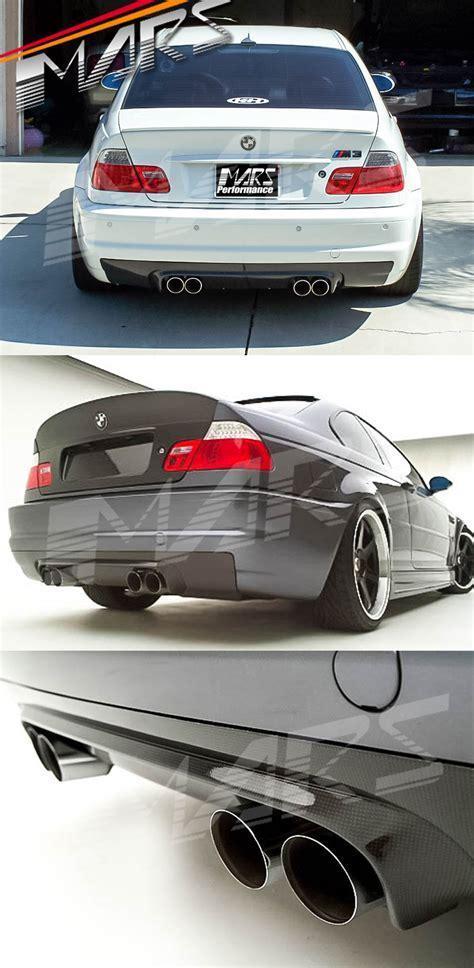 csl style real carbon fiber rear bumper bar diffuser for bmw e46 m3 mars performance