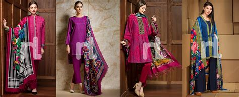 nishat linen winter dresses collection   stitched