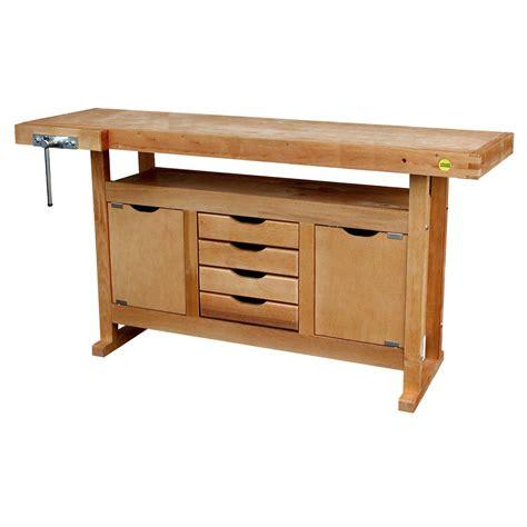 bloc cuisine pas cher etabli en bois outifrance avec 2 portes 4 tiroirs