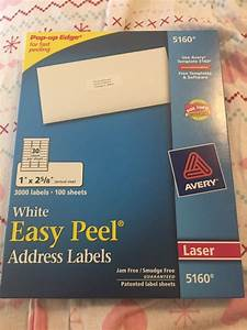 avery 3000 easy peel address labels model 5160 business With avery 5160 labels 3000