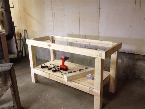 build diy build easy workbench popular mechanics  plans