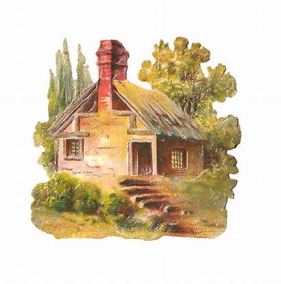 Cottage Clipart Clip Digital Country Antique Stone
