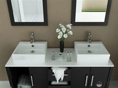jwh living  sirius double vessel sink vanity stone top