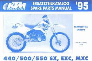 1995 Ktm 440 500 550 Sx Exc Mxc Chassis Spare Parts Manual