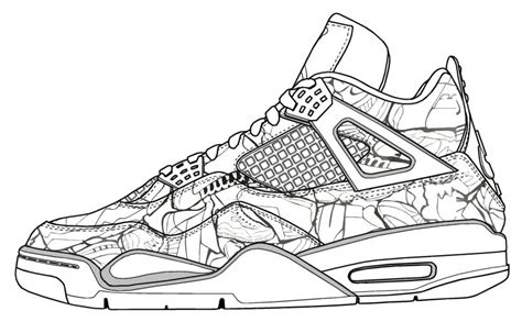 shoes coloring page coloring home