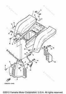 Yamaha Atv 2003 Oem Parts Diagram For Rear Fender