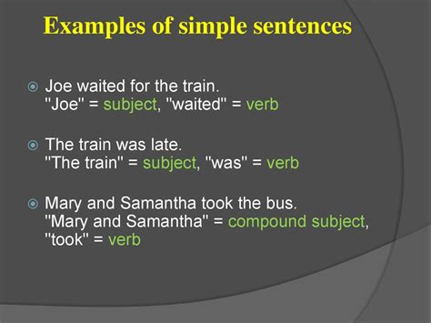 simple complicated sentences sentence types