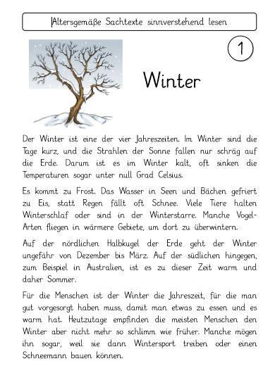 sachtexte winter und weihnachten fraumohrsrasselbandes