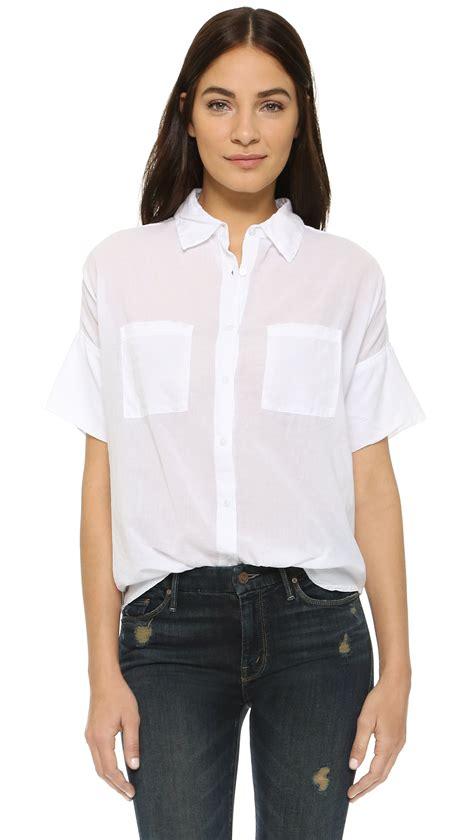 white blouse sleeve sundry sleeve blouse in white lyst