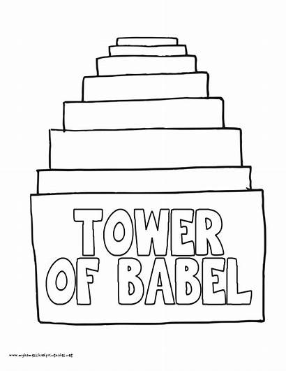 Babel Tower Coloring Pages Printable History Preschool