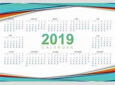 28 calendarios 2019 imprimibles para descargar