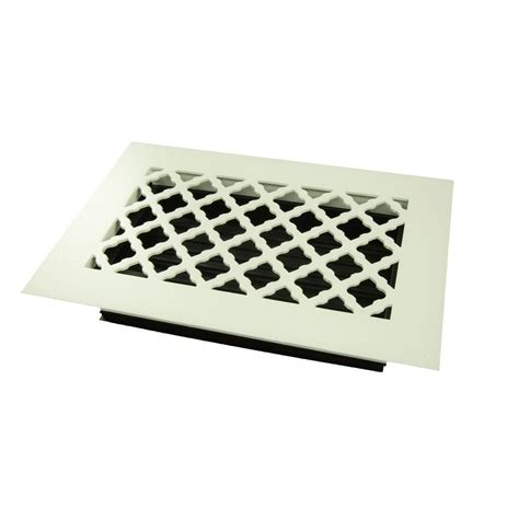 Black Floor Registers Home Depot by Decor Grates 6 In X 12 In Cast Iron Black Steel Scroll