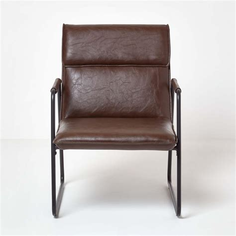 When it first made its appearance in the early 18th. Leather Upholstered High Back Armchair Accent Chair with ...
