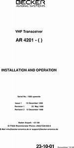 Becker 4201 Installation Manual
