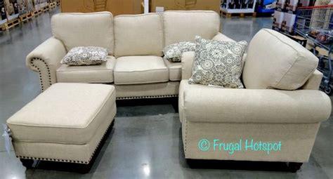 synergy home sleeper sofa synergy home fabric sofa chair ottoman set costco