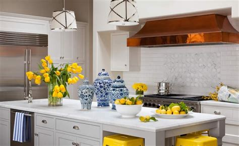 Blue And Yellow Kitchen Photos