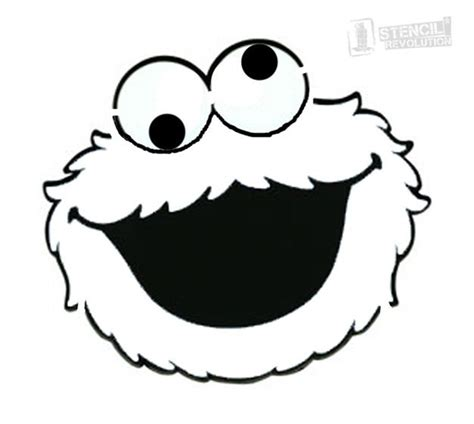 cookie monster stencils birthday party clipart cookie