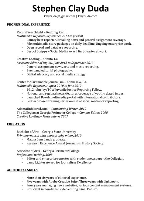 Groupon Resume Service 2014 by Clay Duda Multimedia Journalist