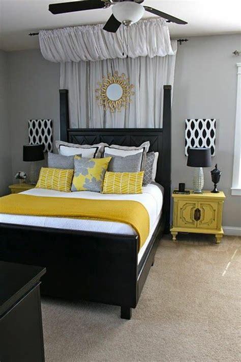 deco chambre gris et décoration chambre gris et jaune