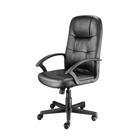 Office Chairs Staples Uk by Staples Impetus Executive Office Chair Split Leather Black