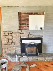 our, brick, fireplace, makeover