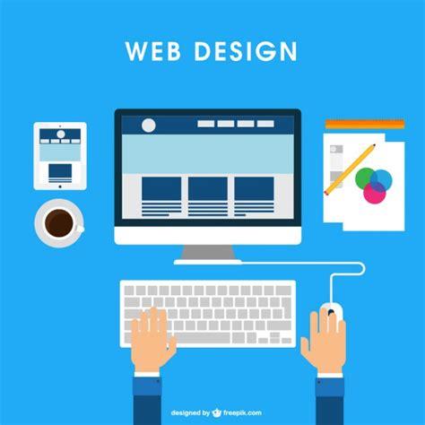 free web design web design desk vector free