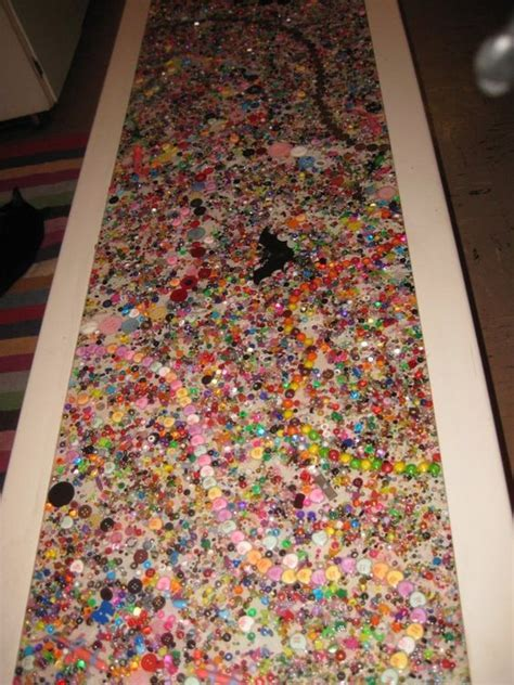 Resin and bead table top.   Mary Go Round  Mary Wright
